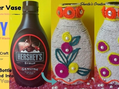 DIY Flower Vase Out of Waste Bottle | Recycled Craft | Best out of Waste