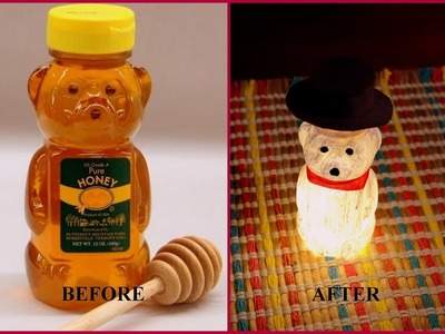 DIY HONEY BEAR BOTTLE LAMP