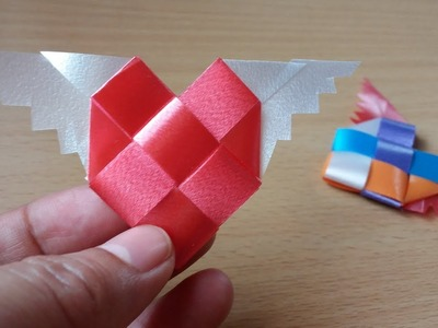 DIY How to Make Simple Easy Ribbon heart