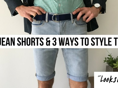 DIY JEAN SHORTS & 3 WAYS TO STYLE | Parker York Smith | Men's Fashion