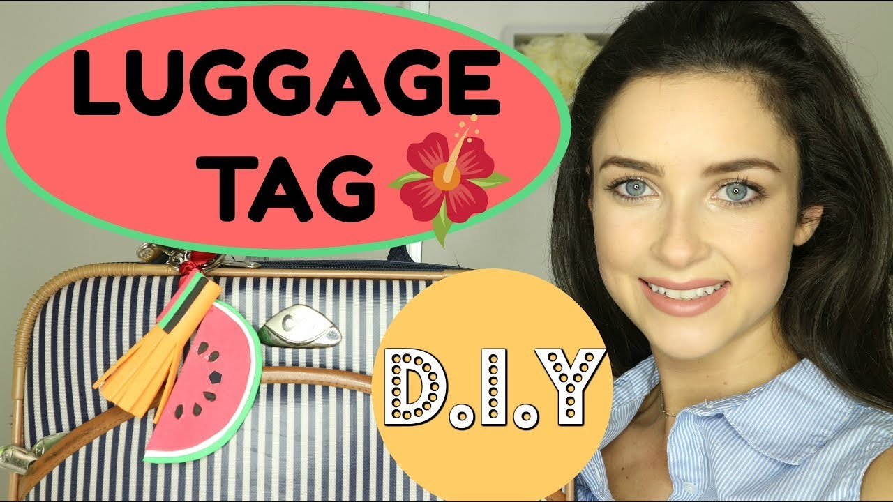 DIY LUGGAGE TAG | Cute Design | Fun Vlog | How to | Arts and Crafts