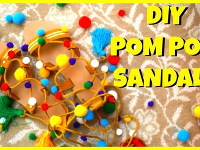 DIY Pom Pom Sandals ll Upcycle old shoes ll Summer Footwear Trends ll Smalltowngirl