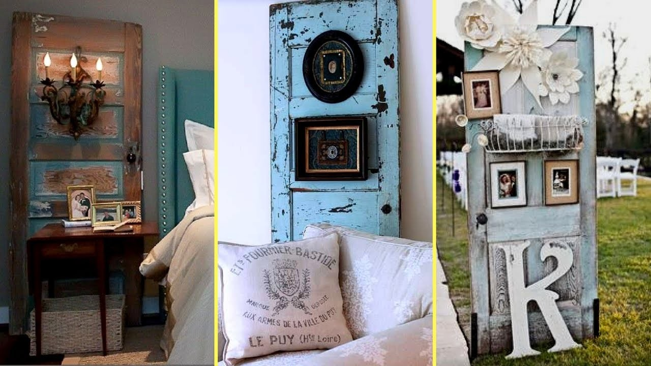Diy repurposed furniture ideas old door recycling home for Repurposed home decorating ideas