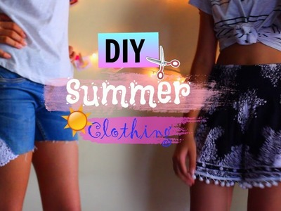 DIY SUMMER CLOTHING. Cute & Easy-to-do | Jynelle Fernandes