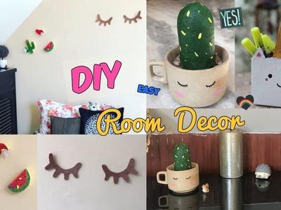 DIY Super cute & cheap Room Decor (dorm)!!- cactus,unicorn box,bulletin boards,eyelashes (India)