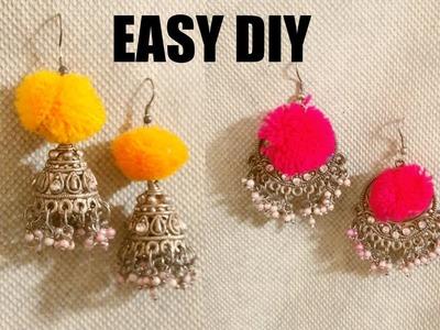 EASY POMPOM EARRINGS DIY #1