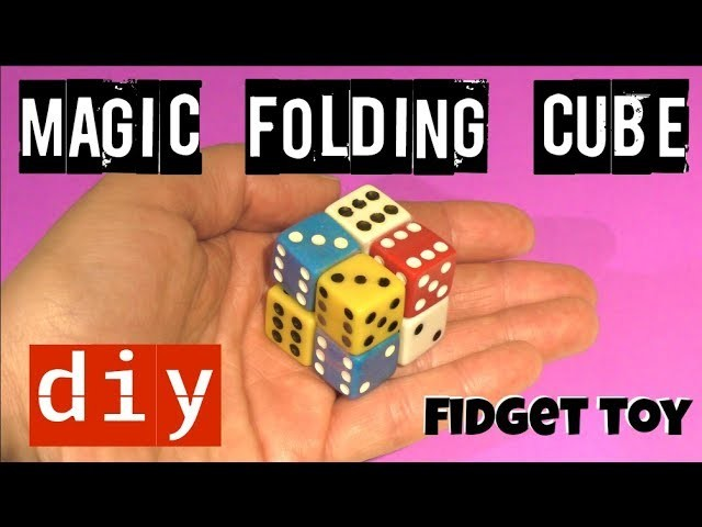 FOLDING FIDGET CUBE TOY - DICE MAGIC CUBE - DICE TOY - DIY FIDGET TOYS - STRESS TOYS
