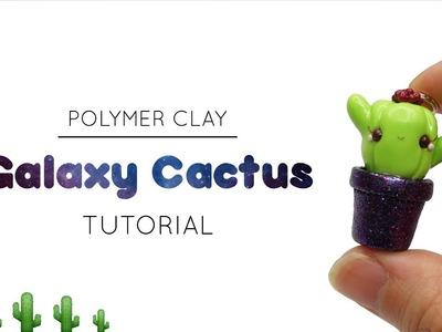 Galaxy Cactus. Polymer Clay Tutorial