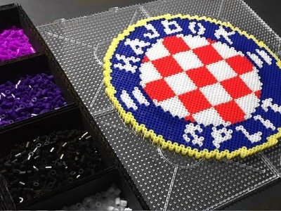 HNK Hajduk Split Fan Art Perler Hama Beads Pixel Art Torcida