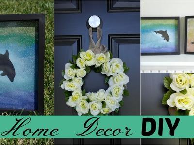 Home Decor DIY || Using Dollar Tree Items || Summer Wreath || Silhouette Wall Art ||