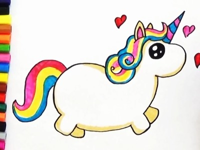 How to Draw a Cute Unicorn - Cute and Easy | BoDraw
