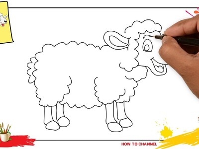How to draw a sheep 2 SIMPLE, EASY & SLOWLY step by step for kids