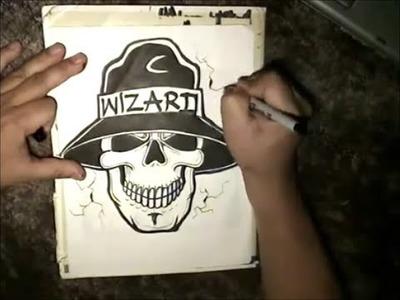 How to draw a Skull -  Cholo Skull