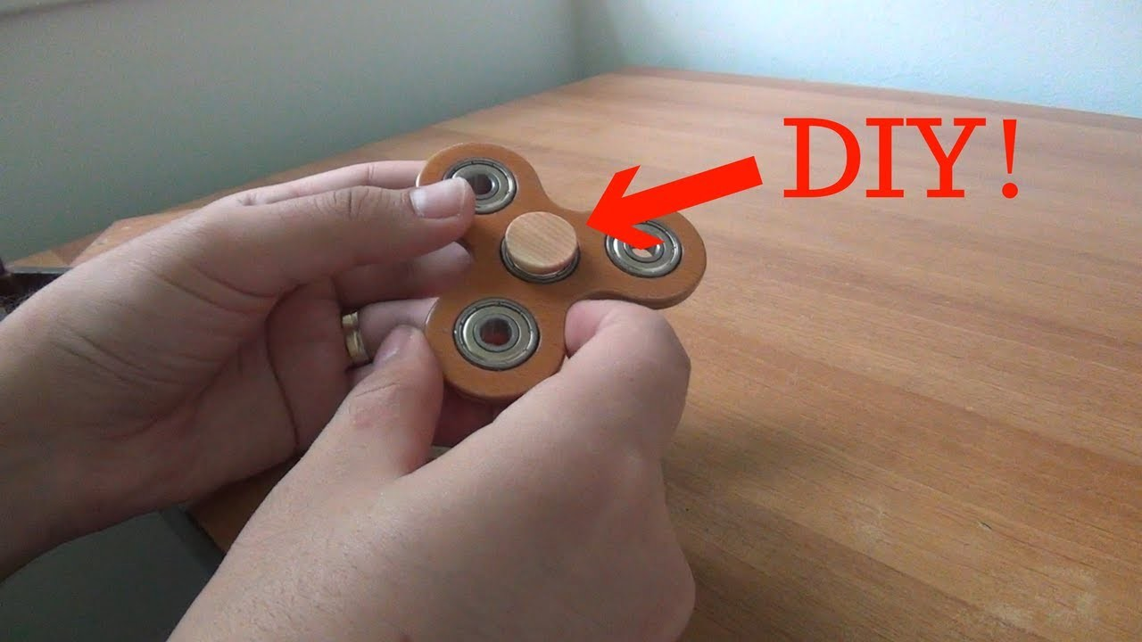 ???? How to make a DIY fidget spinner center button cap ????