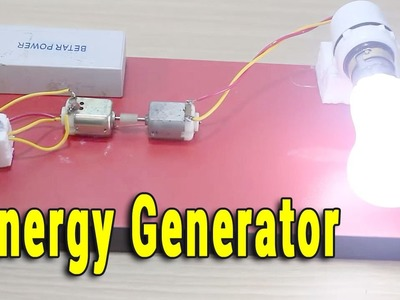 How to make a Energy Generator (Easy Way) || Electrical Engineering Projects