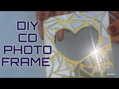 HOW TO MAKE DIY-3D PHOTO FRAME HANDMADE BY OLD CD
