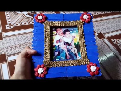 How to Make DIY Photo Frame Using popscile stick & card board