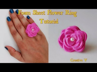How to Make Foam Sheet Finger Ring. Tutorial. Design 2