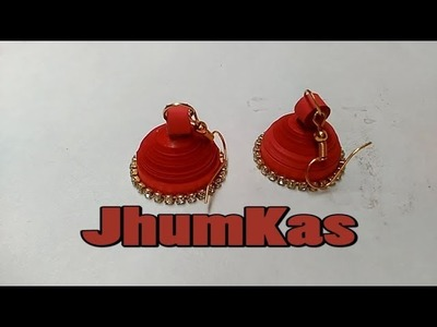 How to make Quilling earrings || Quilling Earrings || Quilling Jhumkas || Easy Quilling earrings