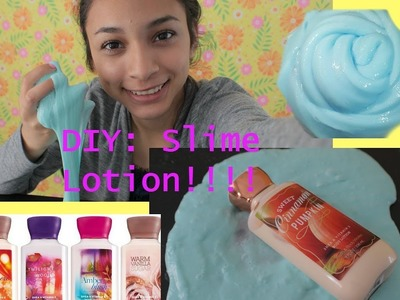 HOW TO MAKE SLIME WITH LOTION!! (EASY DIY)