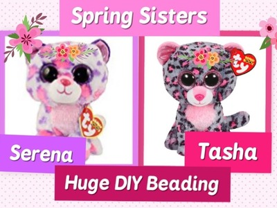 HUGE BEANIE BOO HAMA.PERLER BEADING our BIGGESTever, SERENA and TASHA - Happy BIrthday!