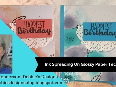 Ink Spreading on Glossy Paper Technique for Cards