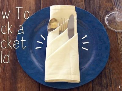 Napkin Folding - How To Pocket Fold - Quick and Easy! | UltimatePatio.com