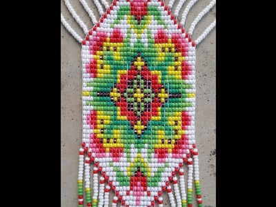 Native american beaded necklaces and Earrings, mexican necklace, loom necklace