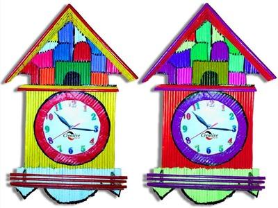 Newspaper Clock Wall Hanging Art Idea | Diy Room Decor | How to Make Wall Hanging | Creative Diy Art