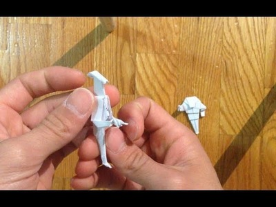Origami battle droid and remake of super battle droid part 1 of 2