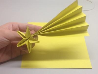 摺紙流星教學Origami fall star tutorial
