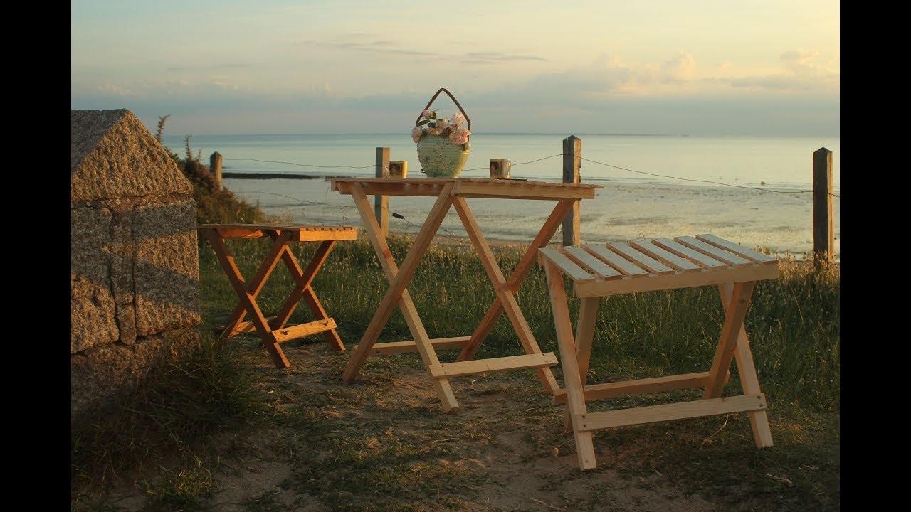 Pallet wood garden furniture. Muebles de paleta. Brico bois de palette