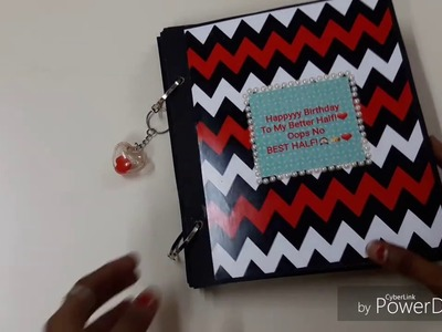 Scrapbook Tutorial DIY for Bf.Gf Birthday.DIY Crafts.Handmade Gift Ideas for Birthday.Scrapbooking