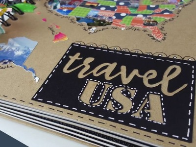 Travel Scrapbook: Use Your ScanNCut To Create A Photo Map
