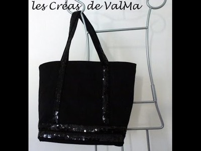 Tuto Couture Sac Bandes sequins paillettes style VB. Sewing