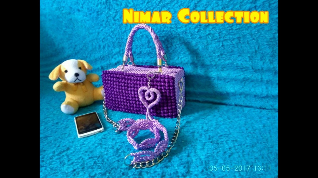 Tutorial Macrame Bag With Bubble Pattern # Part 1