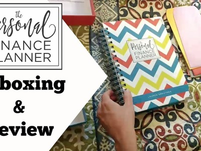 Unboxing and Review - The Personal Finance Planner