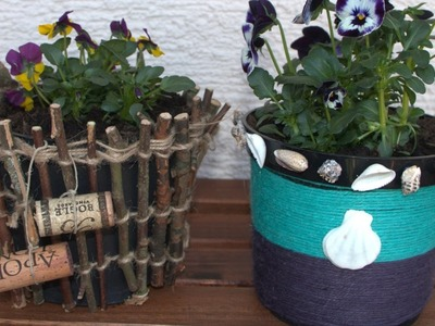2 Simple and Creative Ideas for Decorating Flower Pots