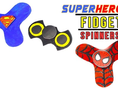 3 Minute Crafts. DIY Superhero Fidget Spinners without bearings. Best Superhero crafts
