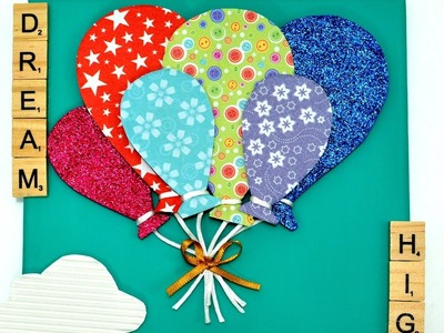 3D Balloon Canvas diy art craft how to make it room decor idea tutorial fun hack gift home wall self