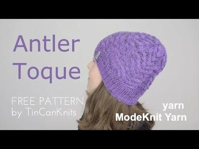 Antler Hat FREE PATTERN by TinCanKnits, ModeKnit Yarn | knittingILove