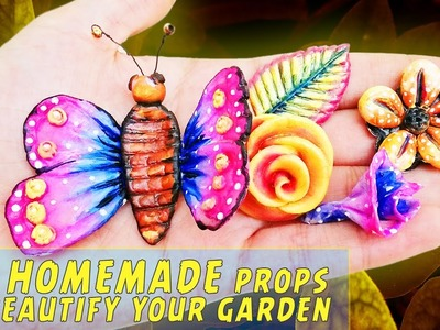 Cute garden decoration ideas from play dough ♥ diy garden accessories by bring me art