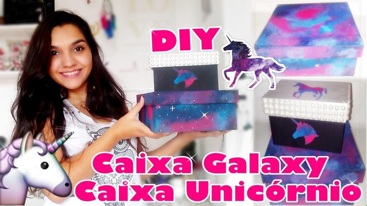 DIY: Caixa Galaxy e Unicórnio   Debbie Tostes