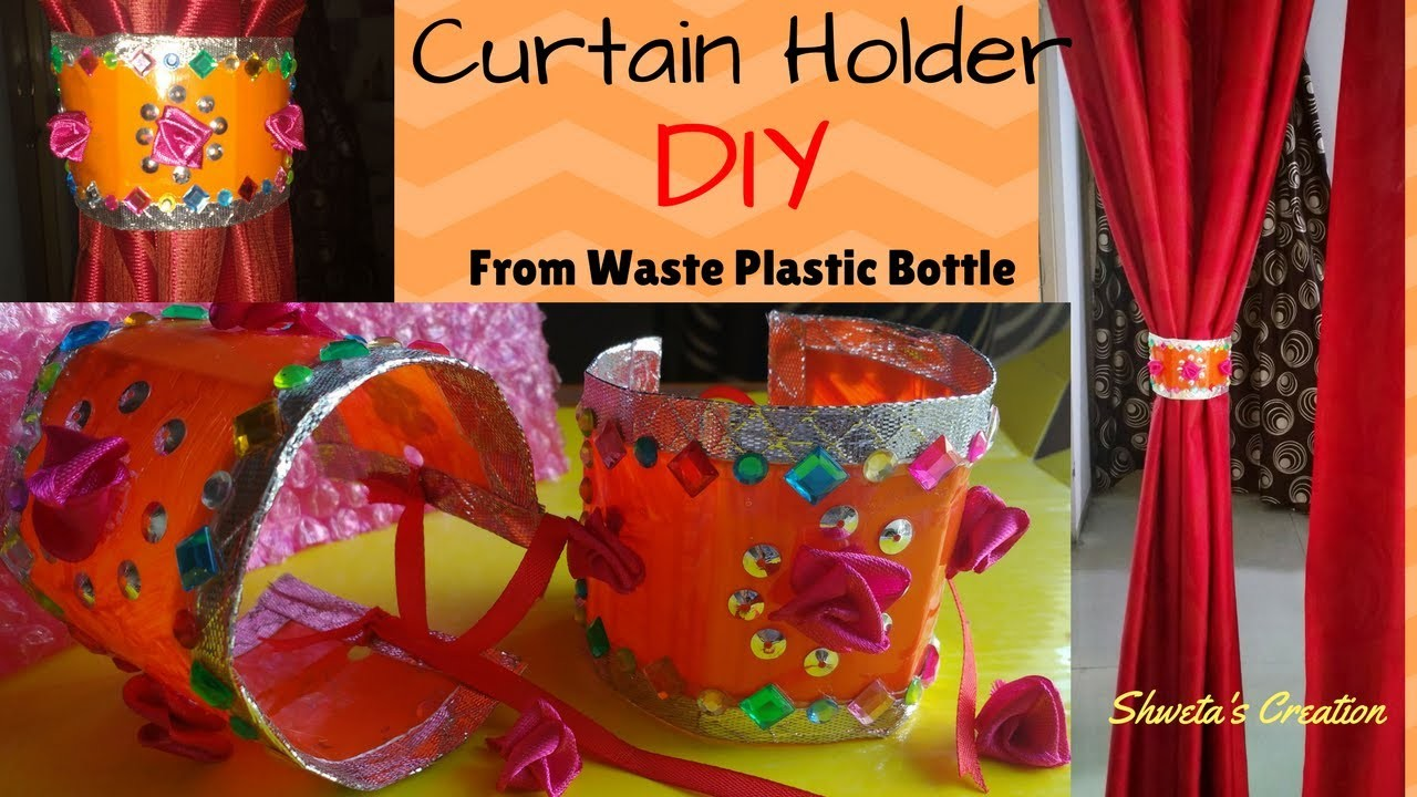 DIY Curtain Holder | Handmade Curtain Tie Backs Made From Waste Plastic Bottle