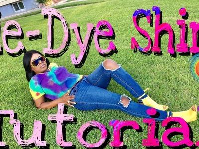 DIY: EASY TIE-DIE SUMMER SHIRT.TUTORIAL    Beautybyposh