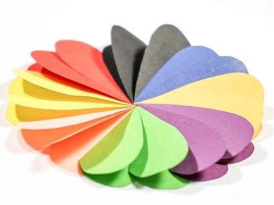 DIY for Kids Paper art for kids  Heart Flower   CraftiKids #10