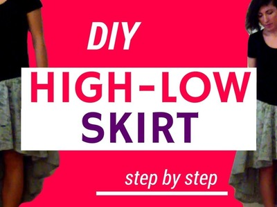 DIY HIGH LOW SKIRT WITH MEASUREMENTS (EASY!) | Becky's DIY Solutions