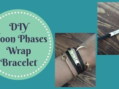 DIY Metal Stamped Moon Phases Wrap Bracelet Tutorial