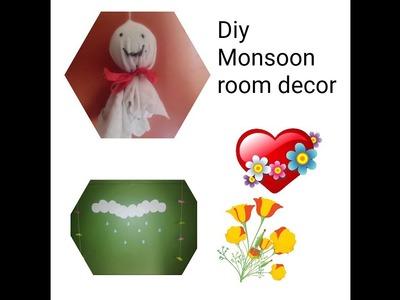 Diy Monsoon room decor |very simple and cheap