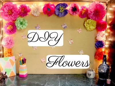DIY-Paper flowers for room decor